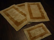 ROMANY GYPSY WASHABLES GERMAN STYLES TRAVELLERS MATS THICK SETS OF 4 MATS NICE